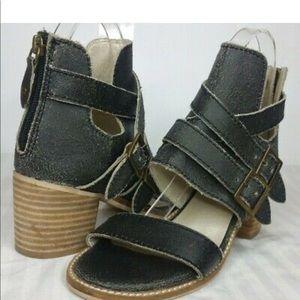 Kelsi Dagger Grant Sandal Distressed Leather